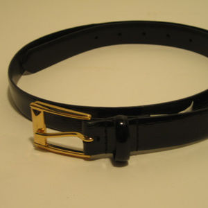 Lauren Ralph Lauen Black Patent Leather Belt M